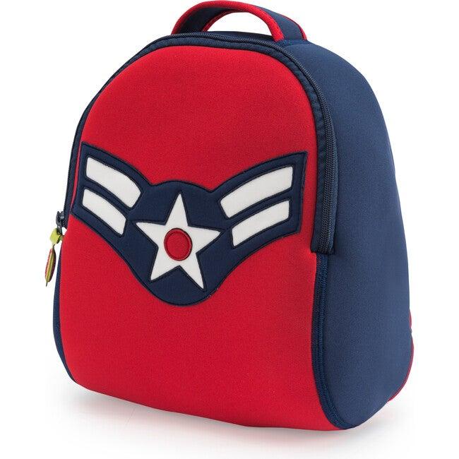 Vintage Flyer Backpack, Blue and Red