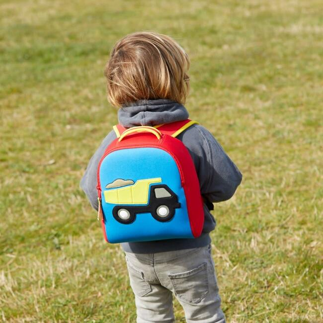 Truck Toddler Harness Backpack, Red and Blue