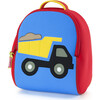 Truck Backpack, Red and Blue - Backpacks - 1 - thumbnail