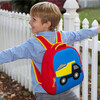 Truck Backpack, Red and Blue - Backpacks - 3