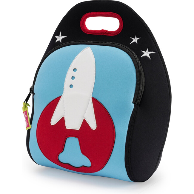 Rocket Lunch Bag, Blue and Red