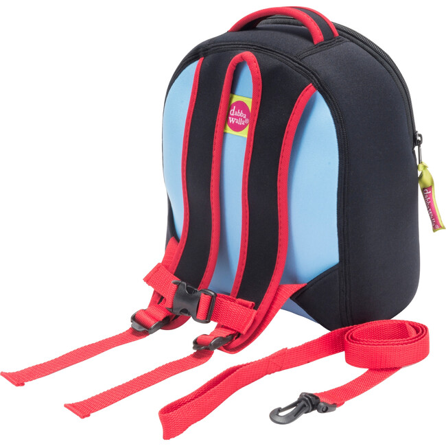Rocket Toddler Harness Backpack, Blue and Red