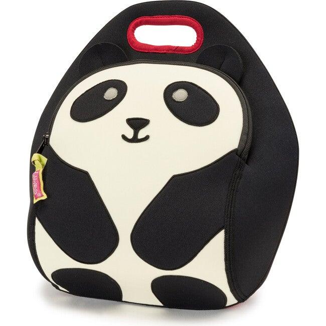 Panda Lunch Bag, Black and Cream