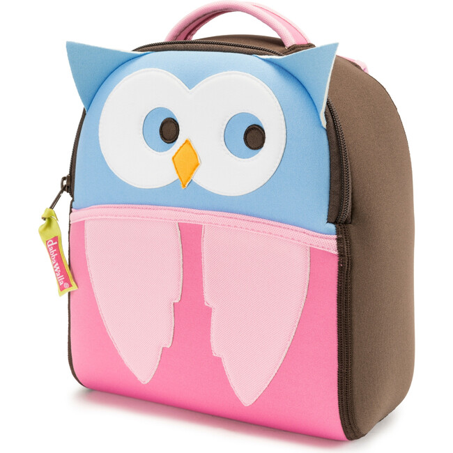Owl Toddler Harness Backpack, Brown and Pink