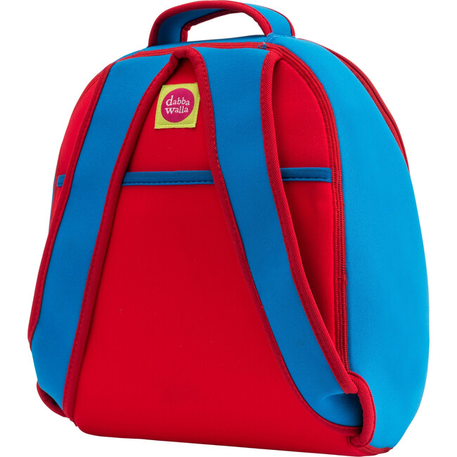 Dog Backpack, Red and Blue