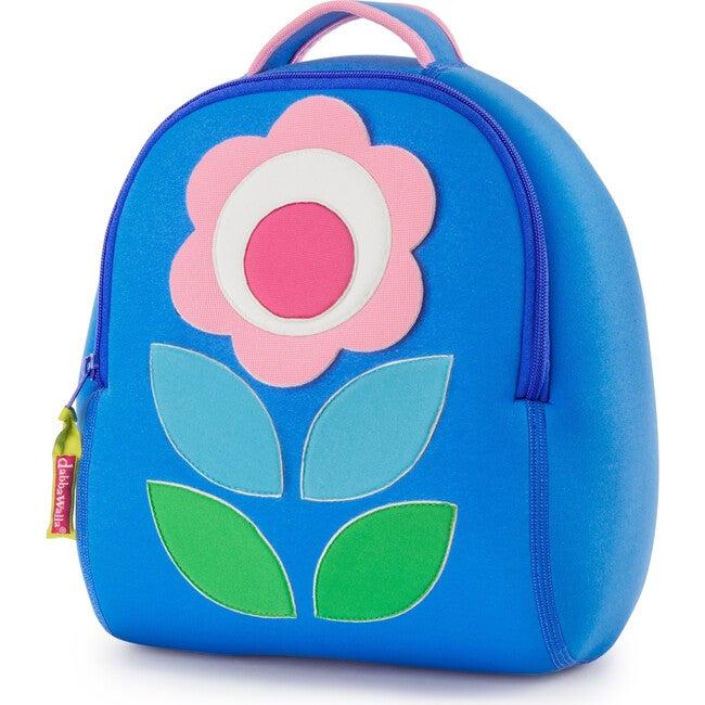 Flower Petal Backpack, Blue and Pink