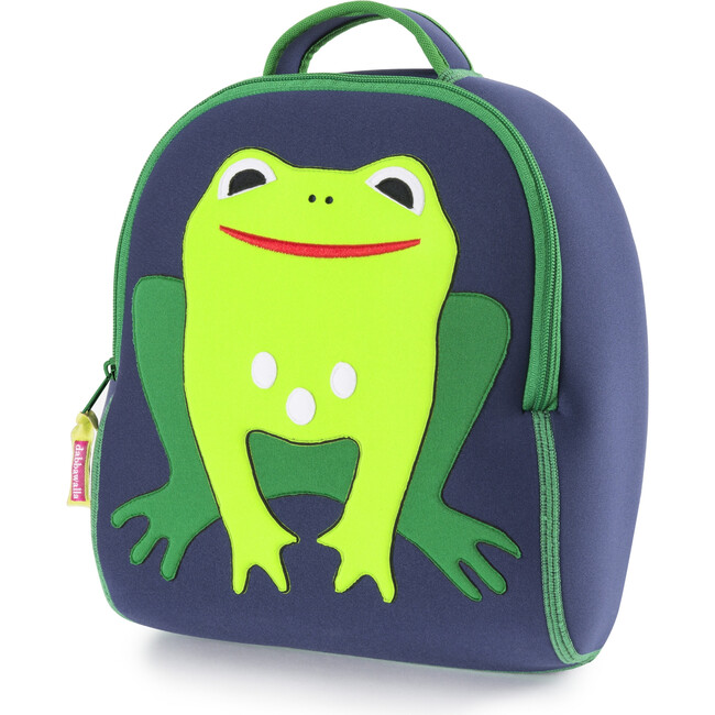 Frog Backpack, Navy and Green