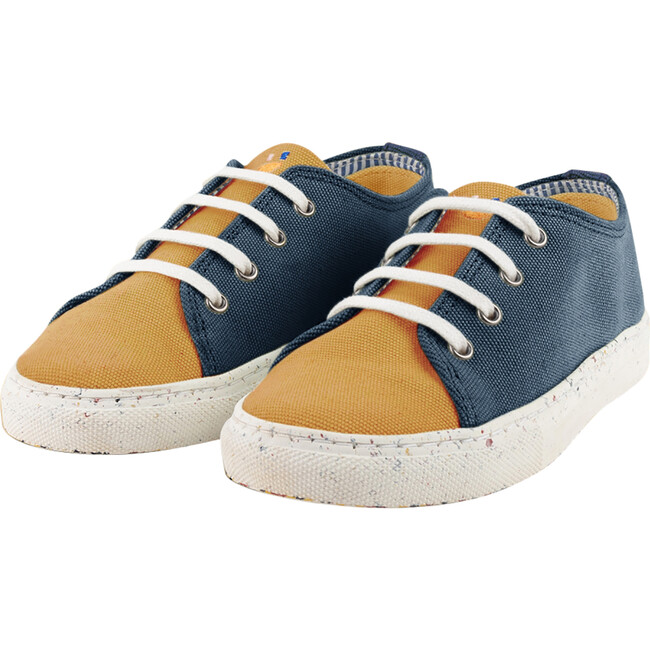Yellow & Navy Lace-up Sneaker