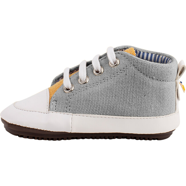 Grey & Yellow Lace-up Bootie
