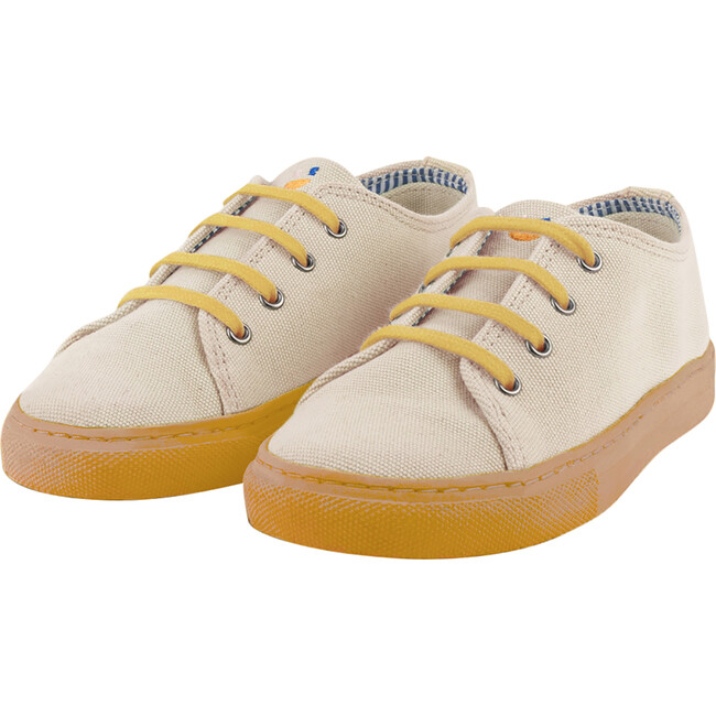 Cream Lace-up Sneaker