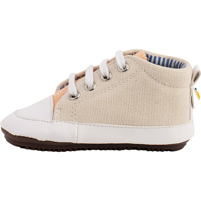 Cream & Salmon Lace-up Bootie