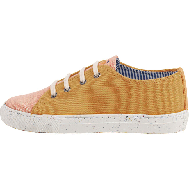 Salmon & Yellow Lace-up Sneaker