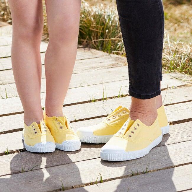 Hampton Canvas Plum Sneaker, Lemon