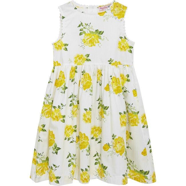Vintage Rose Angelina Ric Rac Dress, Yellow - Dresses - 1