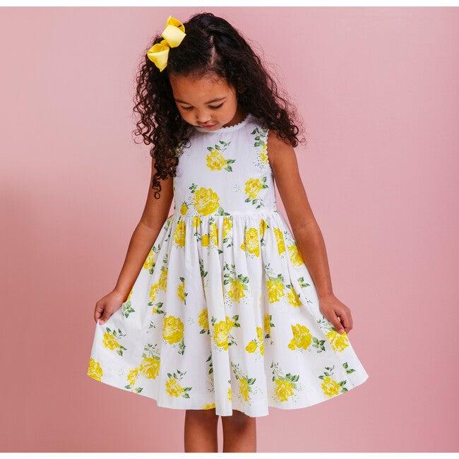 Vintage Rose Angelina Ric Rac Dress, Yellow