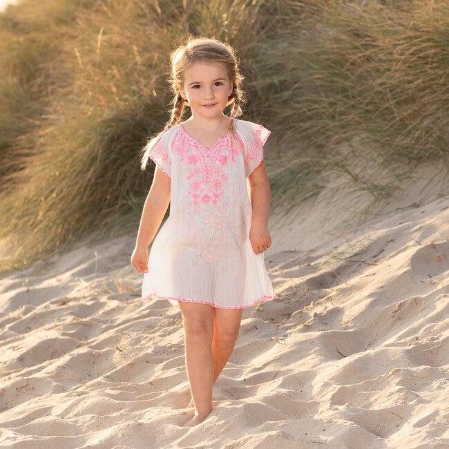 Embroidered Beach Dress, Pink