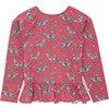 Zebra Bow Rash Vest, Pink - Rash Guards - 1 - thumbnail