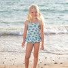 Turtle Peplum Swimsuit, Blue - One Pieces - 2