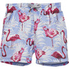 Flamingo Swimshorts, Blue - Swim Trunks - 1 - thumbnail