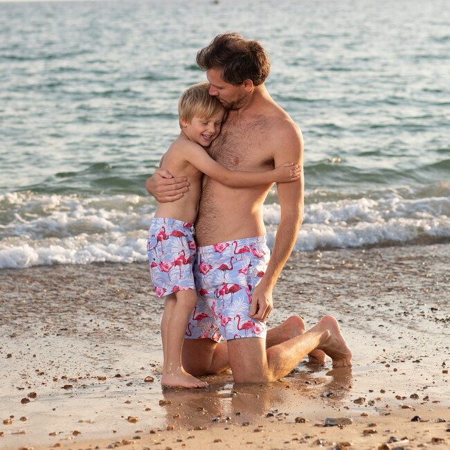 Flamingo Swimshorts, Blue