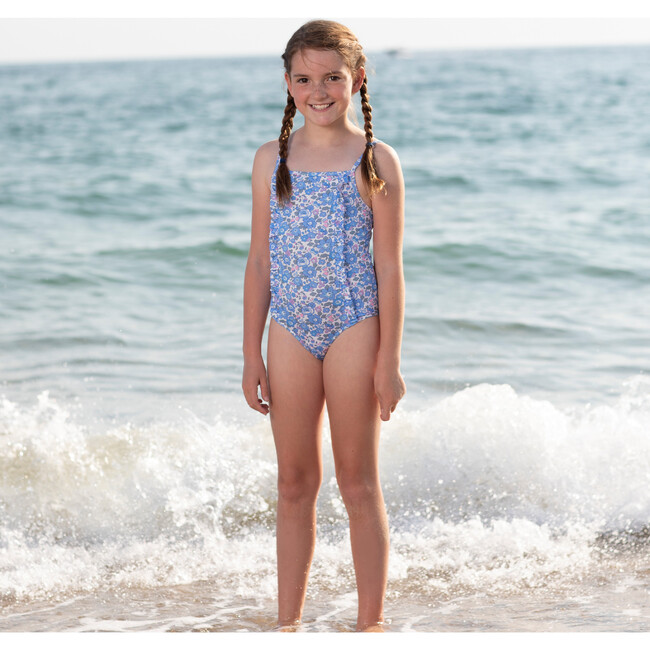 Betsy Frill Swimsuit, Blue
