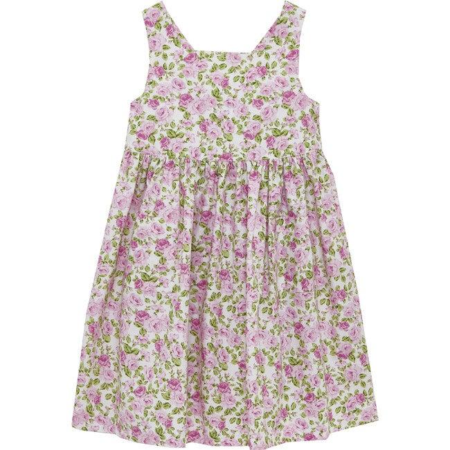 Petite Rose Angelina Cross Back Dress, Pink