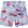 Flamingo Swimshorts, Blue - Swim Trunks - 4