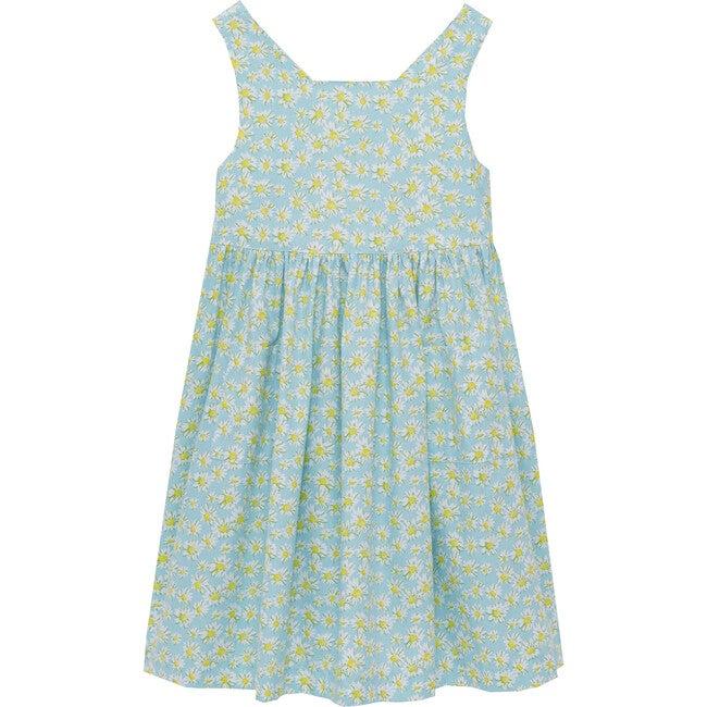 Daisy Angelina Cross Back Dress, Blue - Dresses - 1