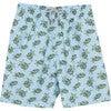 Mens Turtle Swimshorts, Blue - Swim Trunks - 1 - thumbnail