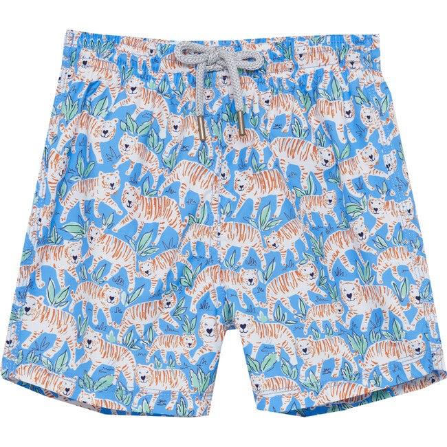 Tiger Swimshorts, Blue