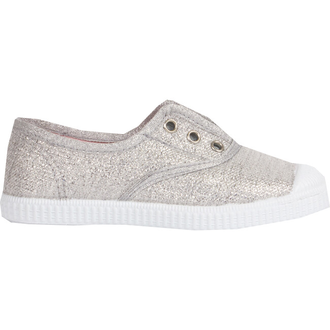 Hampton Canvas Plum Sneaker, Silver