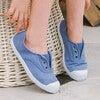 Hampton Canvas Plum Sneaker, Steel Blue - Sneakers - 2