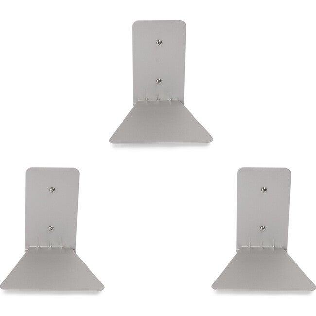 Set of 3 Conceal Floating Shelves, Silver