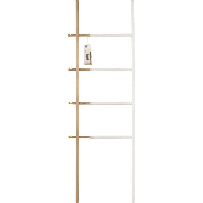 Hub Expandable Ladder, White/Natural