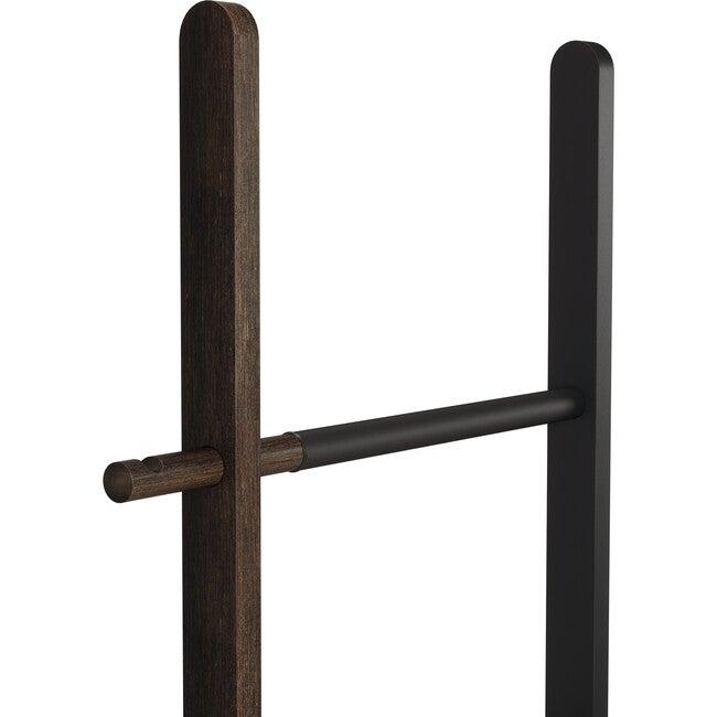 Hub Expandable Ladder, Black/Walnut