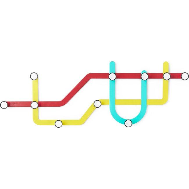 Subway Coat Hook Set, Bright Multi