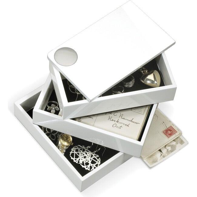 Spindle Storage Box, White