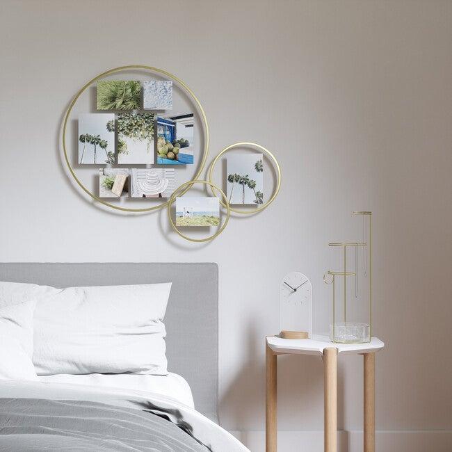 Infinity Wall Float Photo Display, Matte Brass