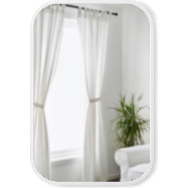Hub Rectangular Mirror, White Frame