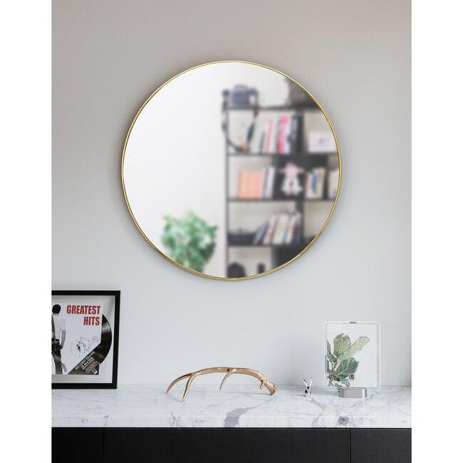 Hubba Round Mirror, Brass