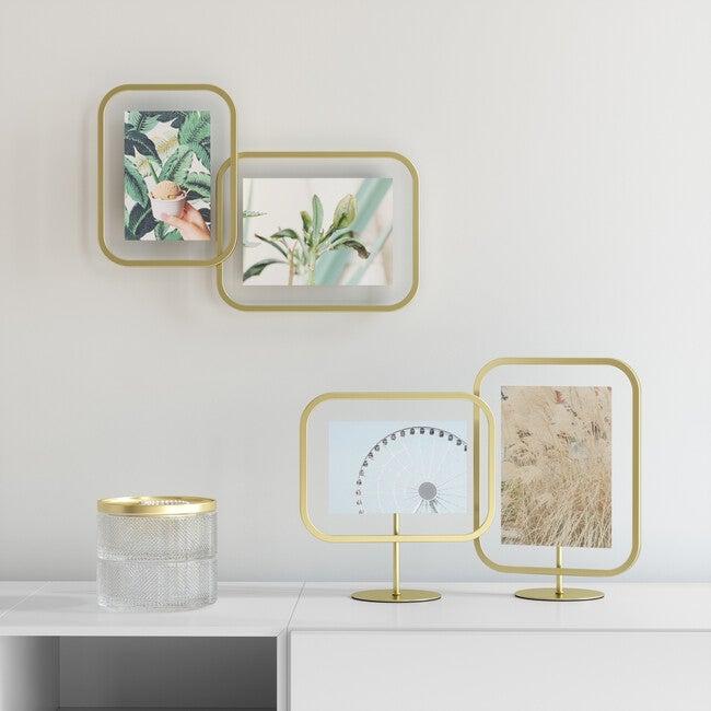 Infinity Sqround Photo Frame, Matte Brass,
