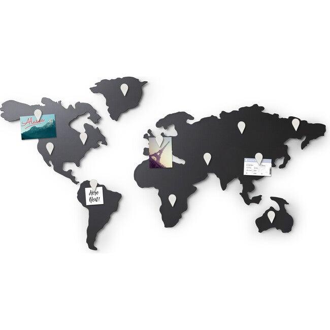 Mappit Magnetic Decorative Map Decor, Titanium