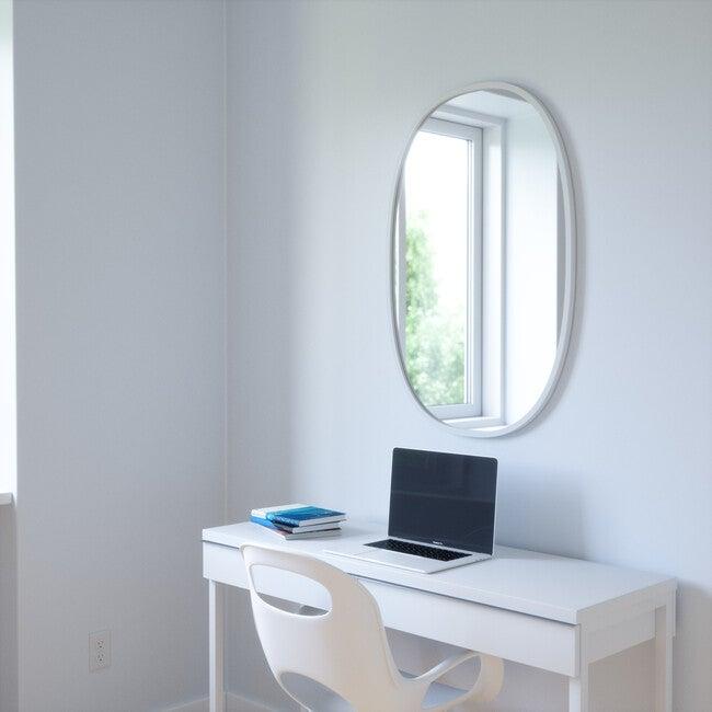 Hub Oval Mirror, Grey Frame
