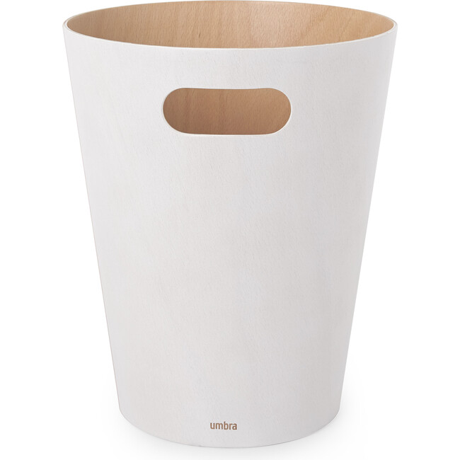 Woodrow Wastebasket, White