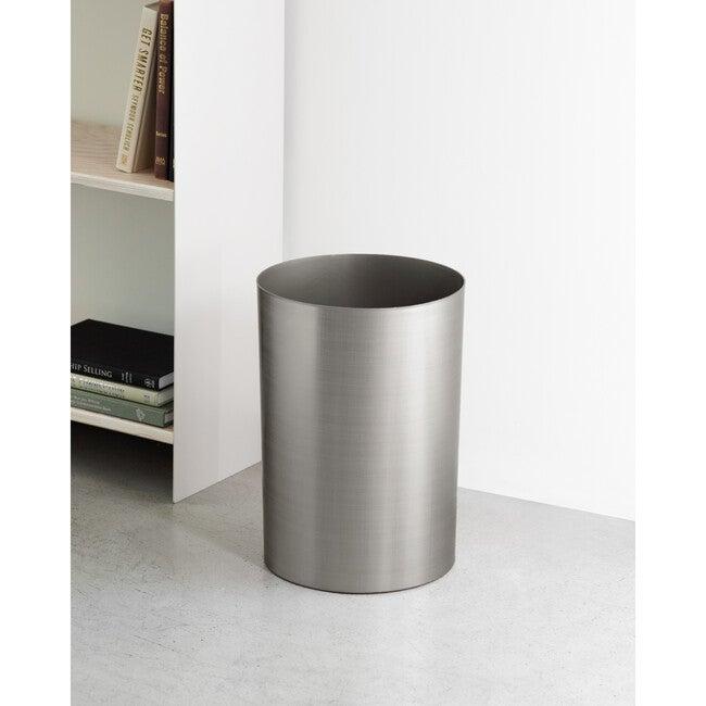 Metalla Wastebasket, Gunmetal