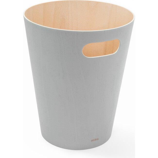 Woodrow Wastebasket, Grey