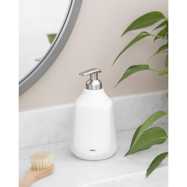 Corsa Ceramic Soap Pump, White
