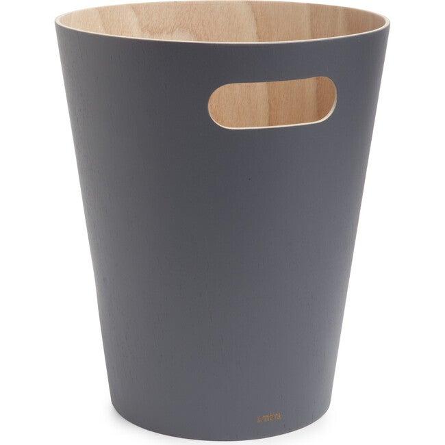 Woodrow Wastebasket, Charcoal