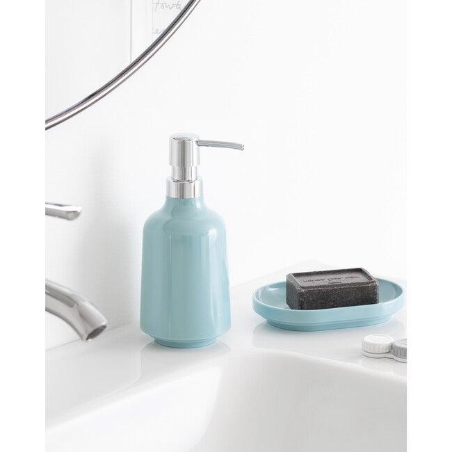 Step Melamine Soap Pump, Ocean Blue