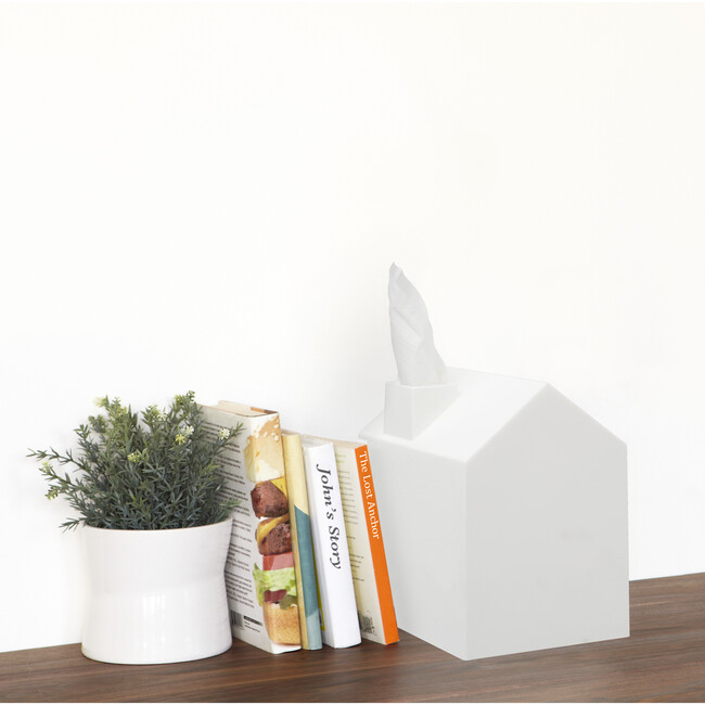 Casa Tissue Box Cover, White